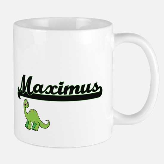 Maximus Classic Name Design with Dinosaur Mugs