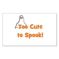 Too Cute To Spook! (ghost) Rectangle Decal