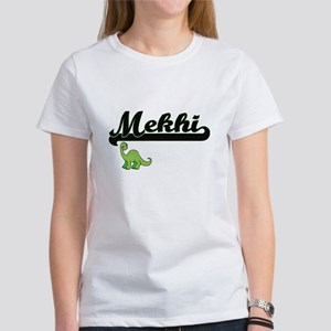 Mekhi Classic Name Design with Dinosaur T-Shirt