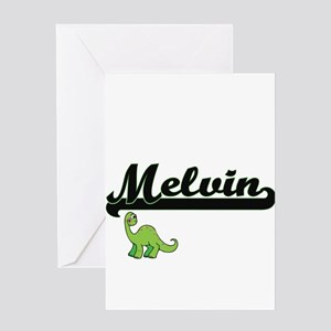 Melvin Classic Name Design with Din Greeting Cards