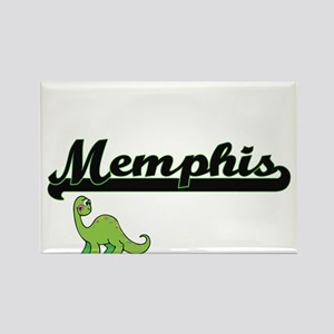 Memphis Classic Name Design with Dinosaur Magnets