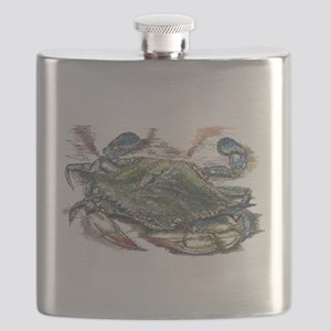Blue Crab Flask