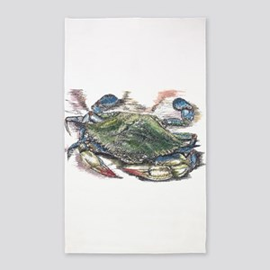 Blue Crab Area Rug