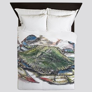 Blue Crab Queen Duvet