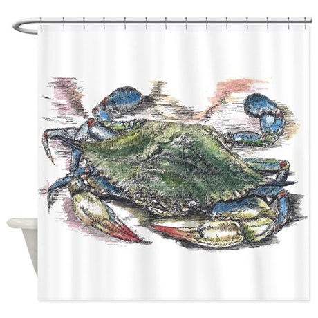 Blue Crab Shower Curtain By ADMIN CP81217567