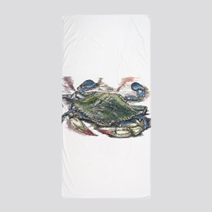 Blue Crab Beach Towel