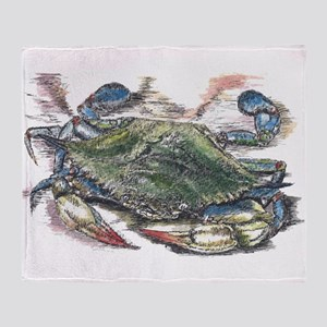 Blue Crab Throw Blanket