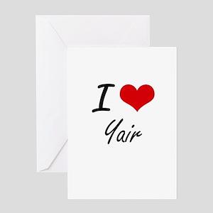 I Love Yair Greeting Cards