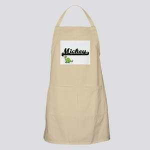 Mickey Classic Name Design with Dinosaur Apron