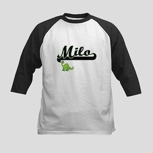 Milo Classic Name Design with Dino Baseball Jersey