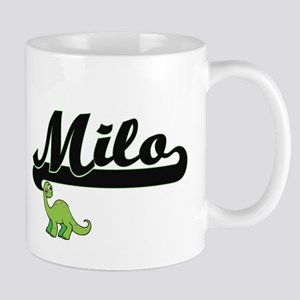 Milo Classic Name Design with Dinosaur Mugs