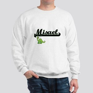 Misael Classic Name Design with Dinosau Sweatshirt
