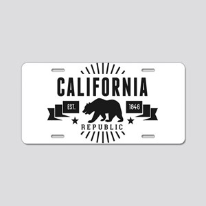 California Republic Aluminum License Plate