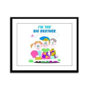 I'm The Big Brother Framed Panel Print