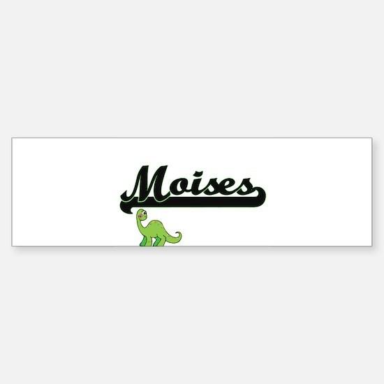 Moises Classic Name Design with Din Bumper Bumper Bumper Sticker