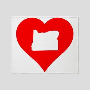 Oregon Heart Cutout Throw Blanket