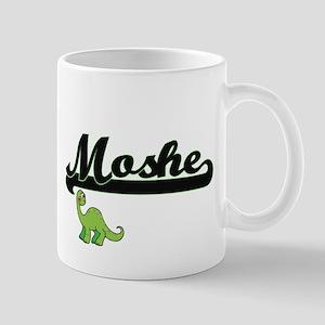 Moshe Classic Name Design with Dinosaur Mugs