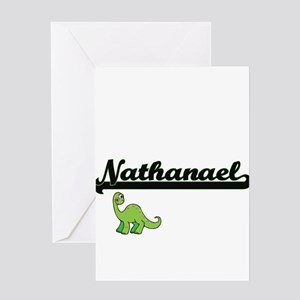 Nathanael Classic Name Design with Greeting Cards