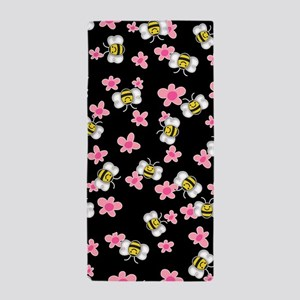 Bee Happy Floral 2 Beach Towel