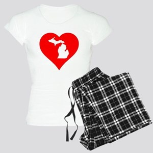 Michigan Heart Cutout Pajamas