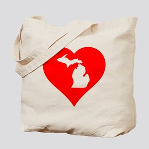 Michigan Heart Cutout Tote Bag