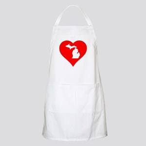 Michigan Heart Cutout Apron
