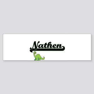 Nathen Classic Name Design with Din Bumper Sticker