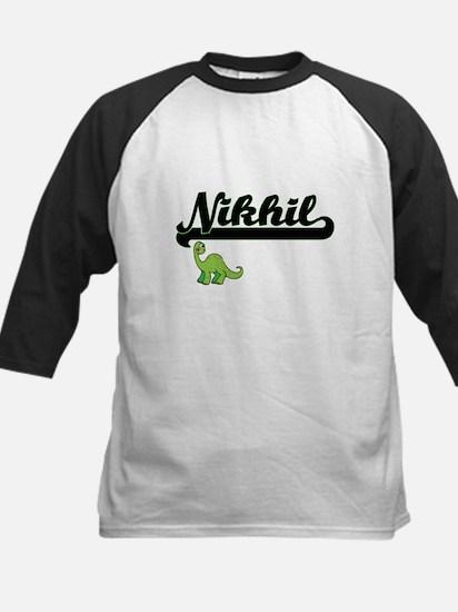 Nikhil Classic Name Design with Di Baseball Jersey