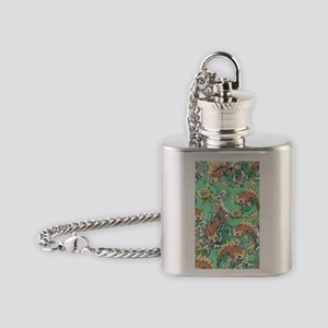 Koi Fish in Pond Flask Necklace
