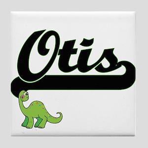 Otis Classic Name Design with Dinosau Tile Coaster