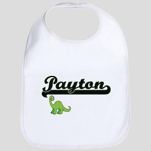 Payton Classic Name Design with Dinosaur Bib