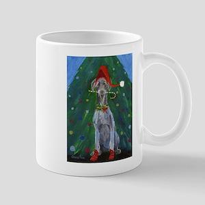 Christmas Weimaraner Mugs