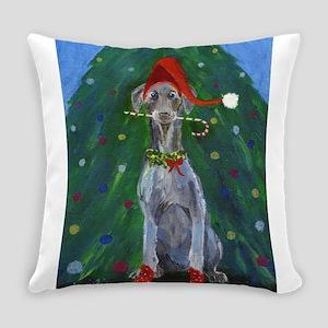Christmas Weimaraner Everyday Pillow
