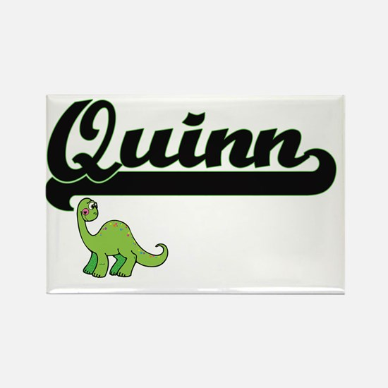 Quinn Classic Name Design with Dinosaur Magnets