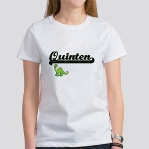 Quinten Classic Name Design with Dinosaur T-Shirt
