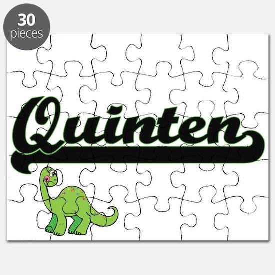 Quinten Classic Name Design with Dinosaur Puzzle
