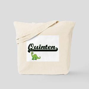 Quinten Classic Name Design with Dinosaur Tote Bag
