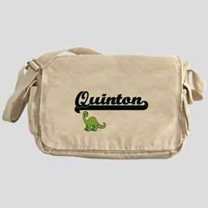 Quinton Classic Name Design with Din Messenger Bag