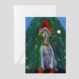Christmas Weimaraner Greeting Cards