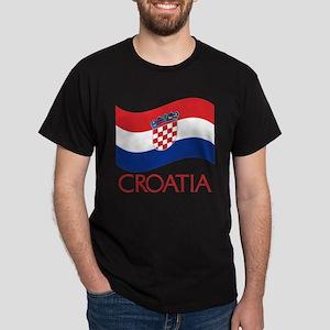 Croatia Waving (C) Dark T-Shirt