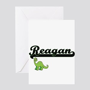 Reagan Classic Name Design with Din Greeting Cards