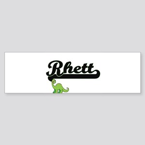 Rhett Classic Name Design with Dino Bumper Sticker