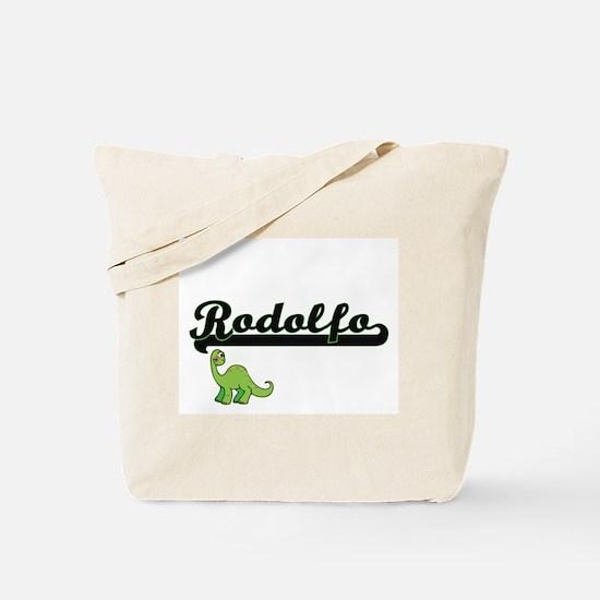 Rodolfo Classic Name Design with Dinosaur Tote Bag