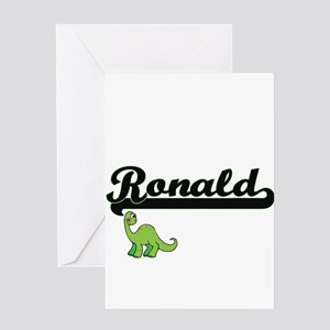 Ronald Classic Name Design with Din Greeting Cards