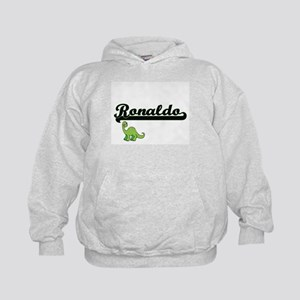Ronaldo Classic Name Design with Dinos Kids Hoodie