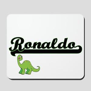 Ronaldo Classic Name Design with Dinosau Mousepad