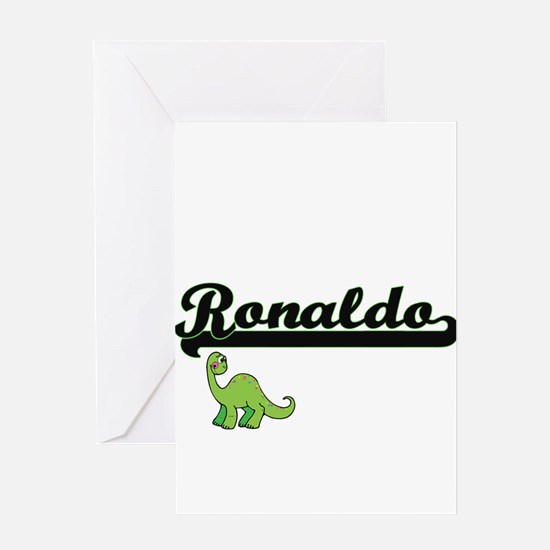 Ronaldo Classic Name Design with Di Greeting Cards