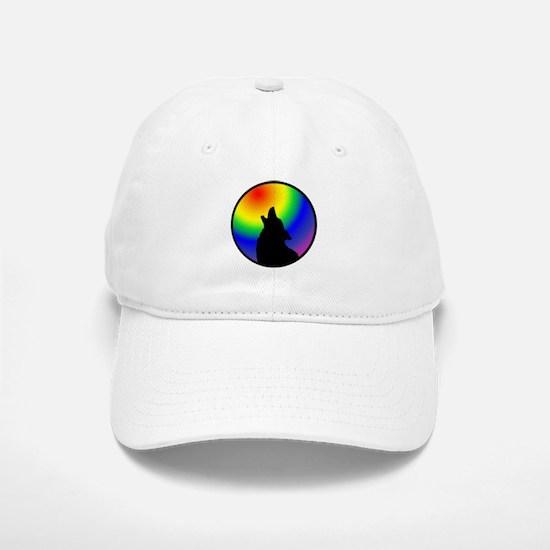 Wolf & Circle Gay Pride Baseball Baseball Cap
