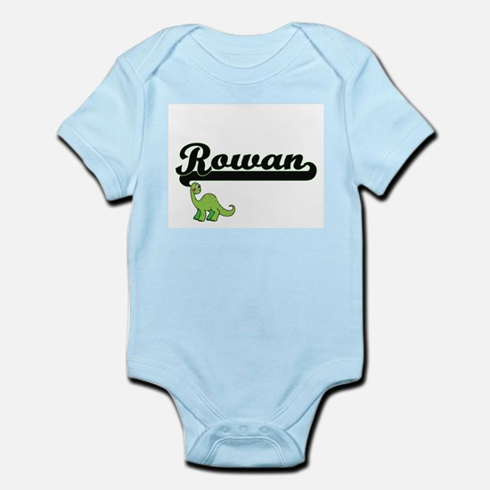 Rowan Classic Name Design with Dinosaur Body Suit