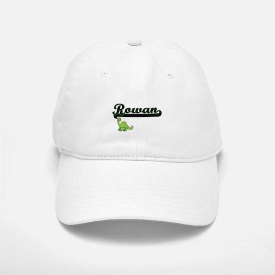 Rowan Classic Name Design with Dinosaur Baseball Baseball Cap